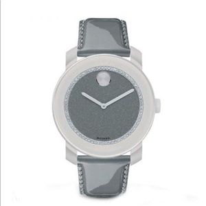 Movado Bold Analog Display Swiss Quartz Grey Watch